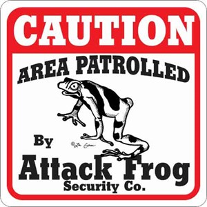 Attack Frog Sign