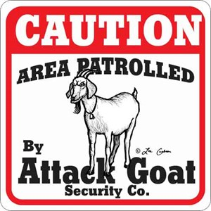 Attack Goat Sign