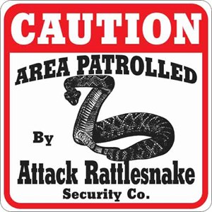 Attack Rattlesnake Sign