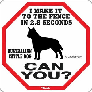 Australian Cattle Dog 2.8 Seconds Sign