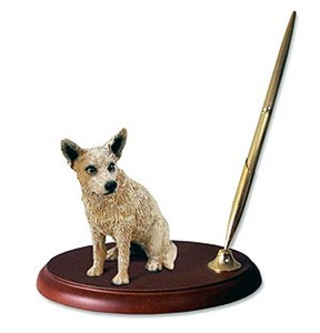 Australian Cattle Dog Pen Holder (Red)