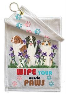 Australian Shepherd Paw Wipe Towel