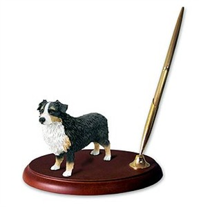 Australian Shepherd Pen Holder (Tricolor)