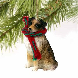 Australian Shepherd Tiny One Christmas Ornament Brown
