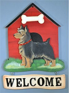 Australian Terrier Welcome Sign