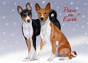 Basenji Christmas Cards