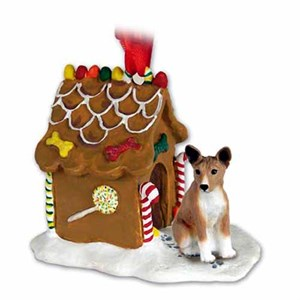 Basenji Gingerbread House Christmas Ornament