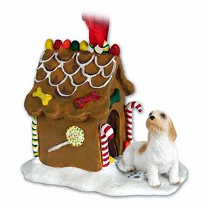 Basset Griffon Vendeen Gingerbread House Christmas Ornament