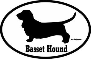 Basset Hound Bumper Sticker Euro