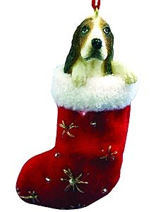 Basset Hound Christmas Stocking Ornament