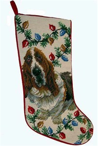 Basset Hound Christmas Stocking