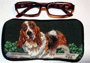 Basset Hound Eyeglass Case