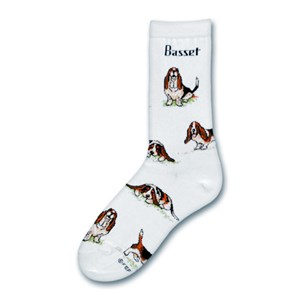 Basset Hound Poses Socks