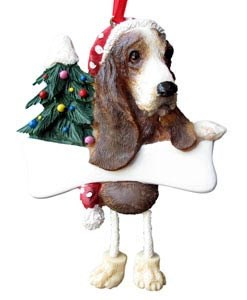 Basset Hound Christmas Tree Ornament - Personalize