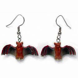 Bat Earrings True to Life