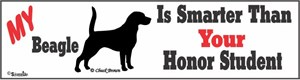 Beagle Bumper Sticker Honor Student