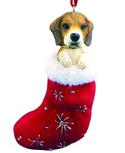 Beagle Christmas Stocking Ornament