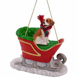 Beagle Sleigh Ride Christmas Ornament