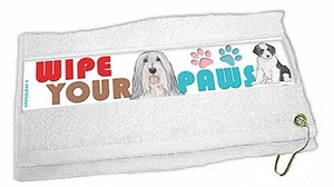 Bearded Collie Paw Wipe Towel