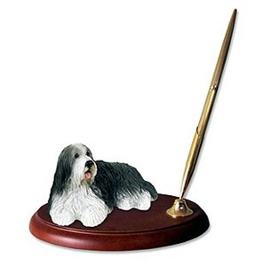 Bearded Collie Pen Holder