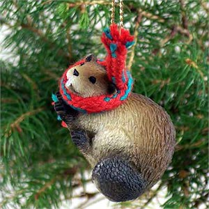 Beaver Tiny One Christmas Ornament
