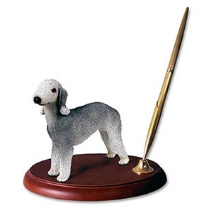 Bedlington Terrier Pen Holder