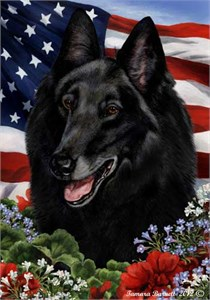 Belgian Sheepdog House Flag