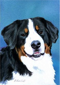 Bernese Mountain Dog House Flag