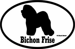 Bichon Frise Bumper Sticker Euro