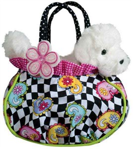 Bichon Frise Purse with Plush Bichon