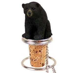 Black Bear Bottle Stopper
