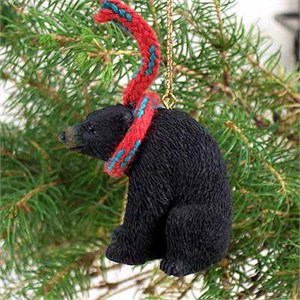Black Bear Tiny One Christmas Ornament