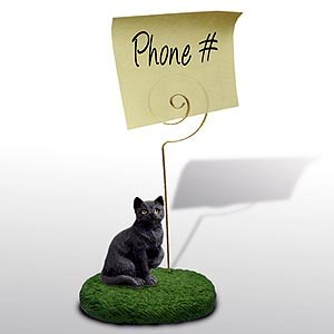 Black Cat Note Holder