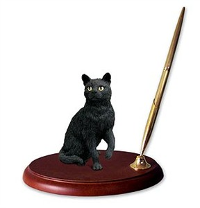 Black Cat Pen Holder