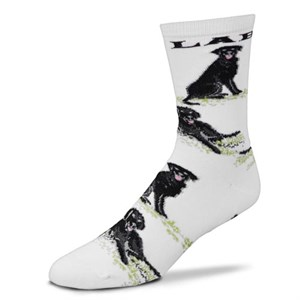 Black Lab All Over Socks