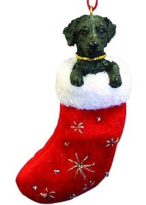 Black Lab Christmas Stocking Ornament