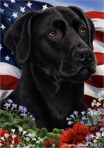 Black Labrador House Flag