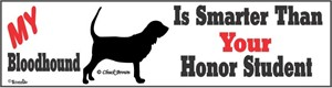 Bloodhound Bumper Sticker Honor Student