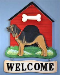Bloodhound Welcome Sign