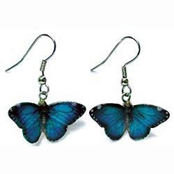 Blue Morpho Butterfly Earrings True to Life