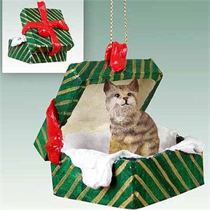 Bobcat Gift Box Christmas Ornament