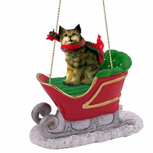 Bobcat Sleigh Ride Christmas Ornament