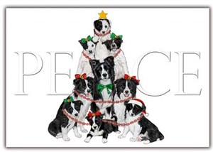 Border Collie Christmas Cards