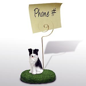 Border Collie Note Holder