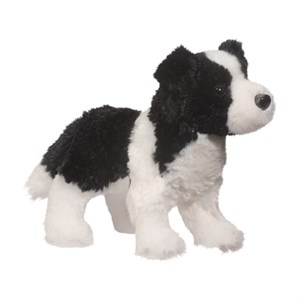 Border Collie Plush Stuffed Animal 8 Inch