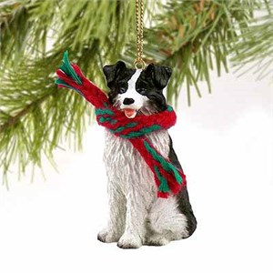 Border Collie Tiny One Christmas Ornament
