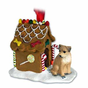 Border Terrier Gingerbread House Christmas Ornament