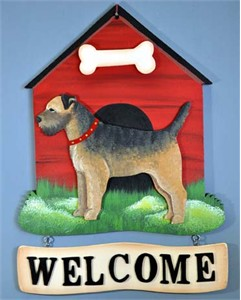 Border Terrier Welcome Sign