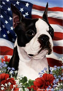 Boston Terrier House Flag