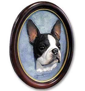 Boston Terrier Sculptured Portrait